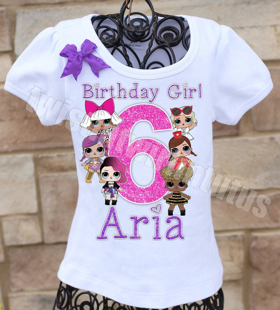 Lol Surprise Birthday Shirt Lol Surprise Dolls Birthday Shirt Lol Surprise Dolls Birthday Party Id Birthday Shirts Family Birthday Shirts Birthday Surprise