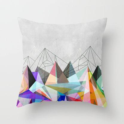Colorflash 3 Throw Pillow Throw Pillows Decorative Throw Pillows Square Throw Pillow