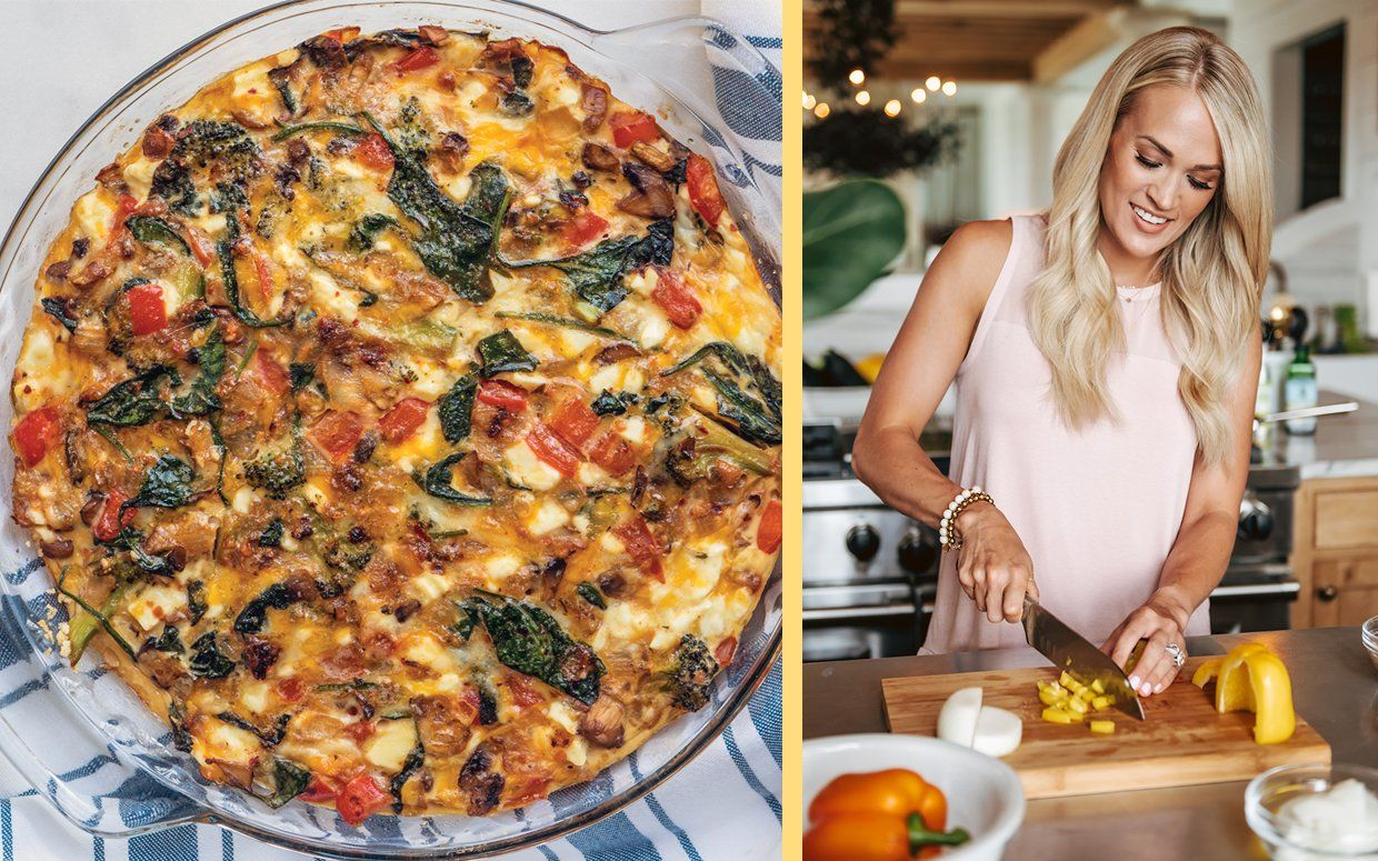 Carrie Underwood Shares the Recipe for Her Favorite Crustless Quiche—and We're Adding the Ingredients to Our Shopping List Now