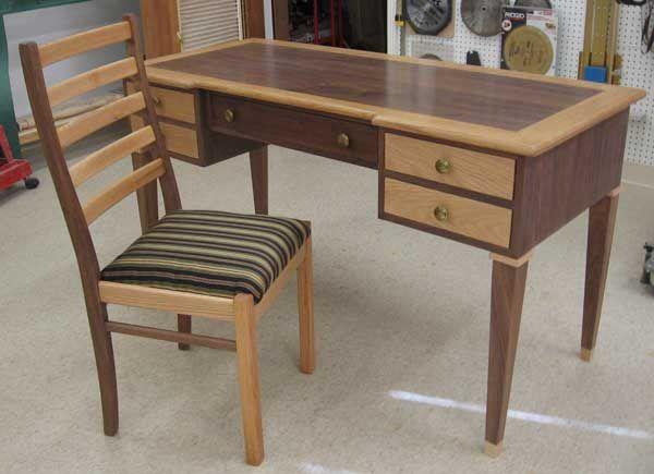 Free wood desk chair plans easy diy woodworking plans for Easy diy desk