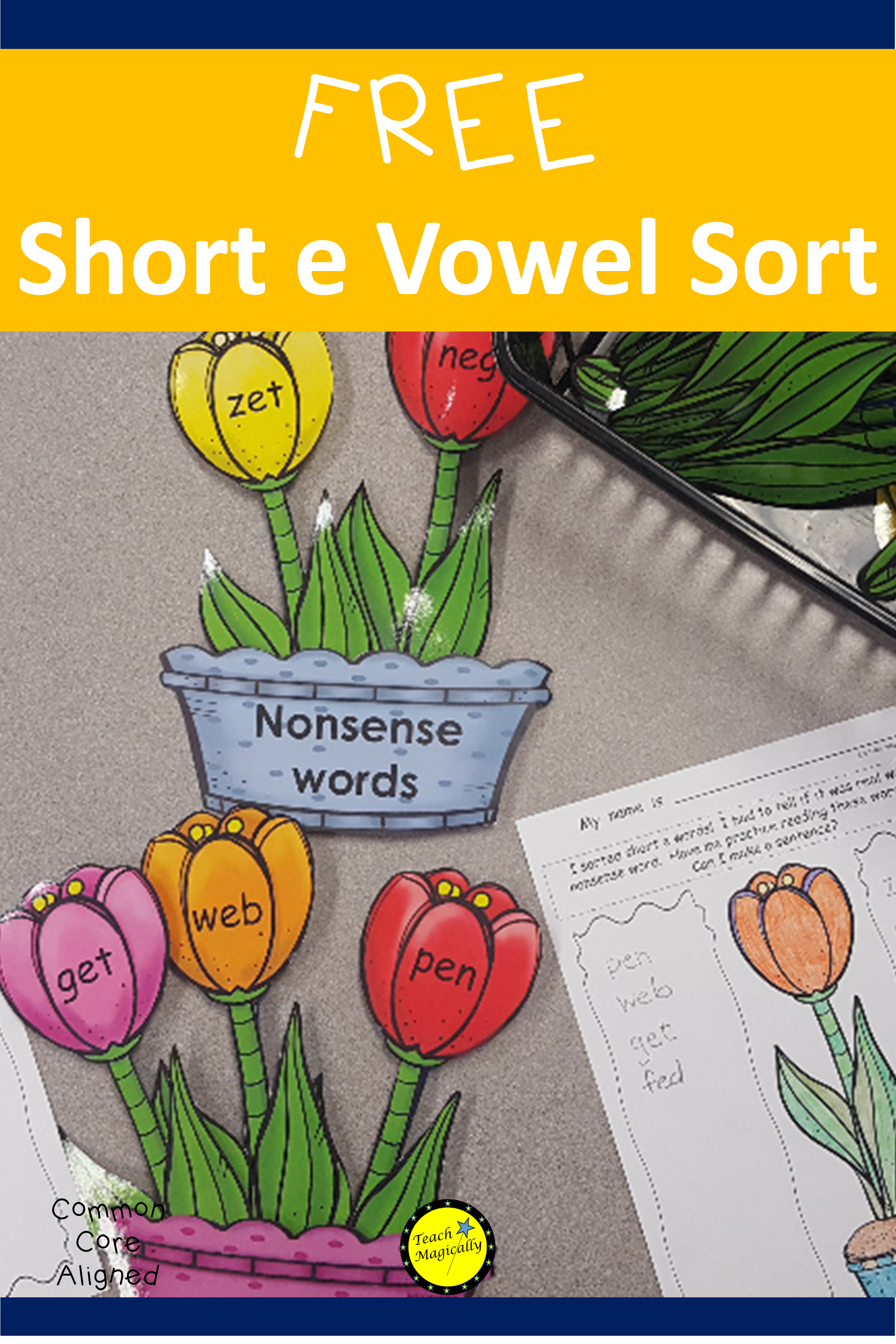 Short Vowel Activity To Focus On Short E Cvc And Nonsense Words Helps Teaching Of Blending For Kindergart Nonsense Words Reading Cvc Words Writing Sight Words [ 3600 x 2400 Pixel ]