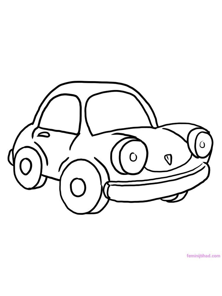 Car Coloring Pages Simple Car Is The Most Widely Known Vehicle In The World We Can Find Cars Almost Everywhere Cars Coloring Pages Coloring Pages Cute Cars