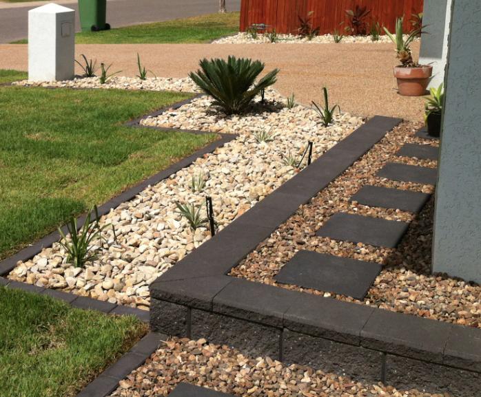 Image Result For Concrete Pavers On Edge Brick Garden 640 x 480