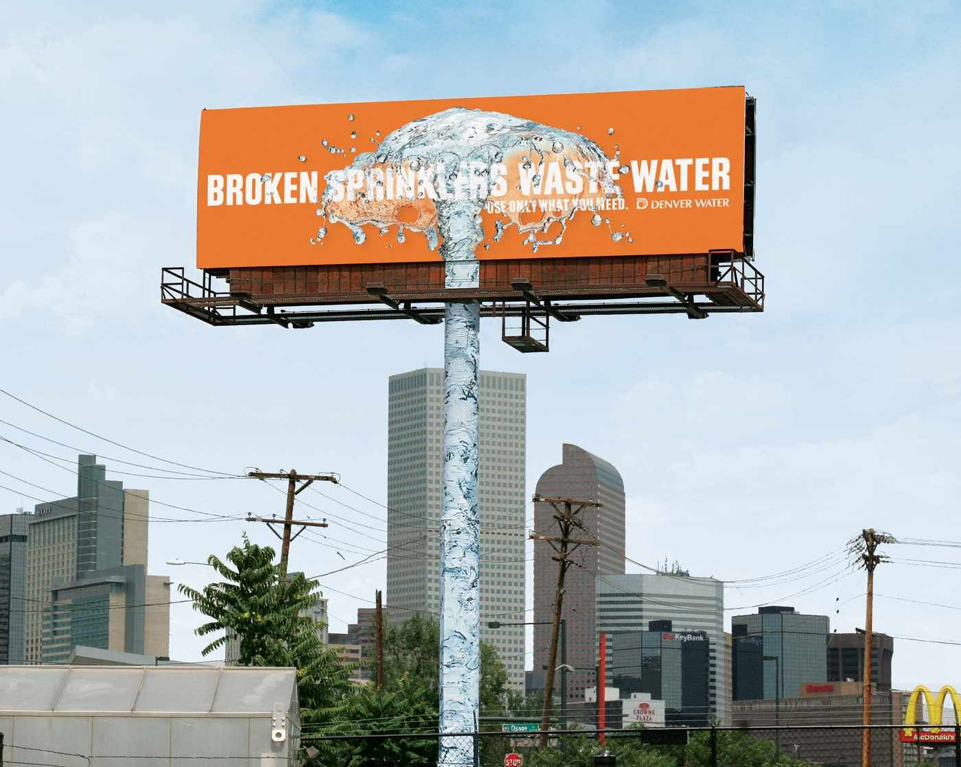Outdoor Advertising Ideas Part - 49: Denver Water: Sprinkler #cartellonistica #pubblicitàesterna #installazioni  #pubblicità #outdooradvertising #advertising