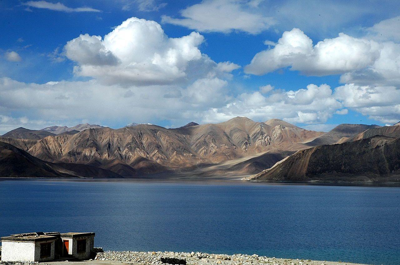 Pangong Tso Lake Ladakh Jammu And Kashmir India Rutog County