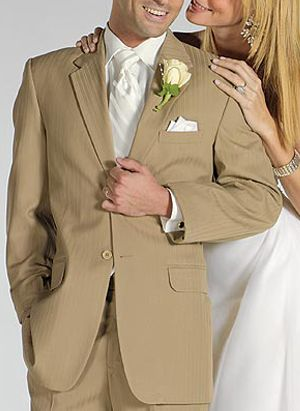 khaki tuxedos...idea | let us wed. | Pinterest | Khakis, Khaki suits ...