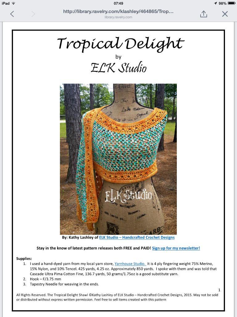 Patroon shawl