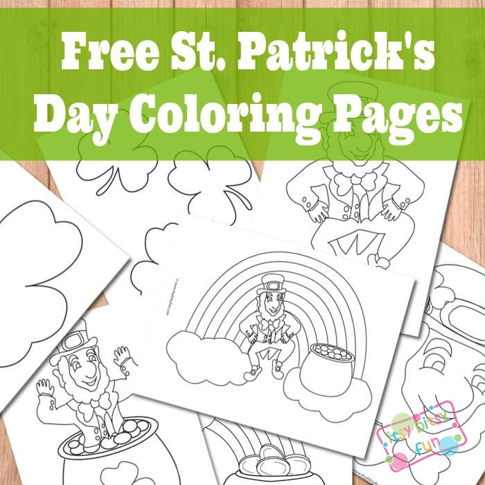 St Patricks Day Coloring Pages Free printable Rainbows and Saints