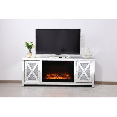 Rosdorf Park Aaron Tv Stand For Tvs Up To 65 Inches With Fireplace