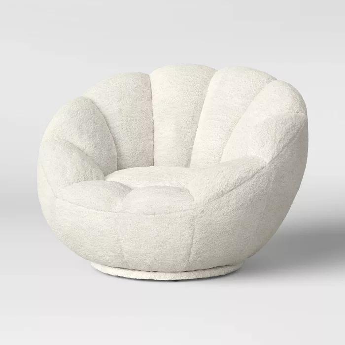 Kids Sherpa Tulip Swivel Chair - Pillowfort™
