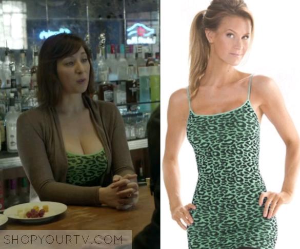 Shameless Season 6 Episode 5 Svetlana S Green Leopard Print Cami