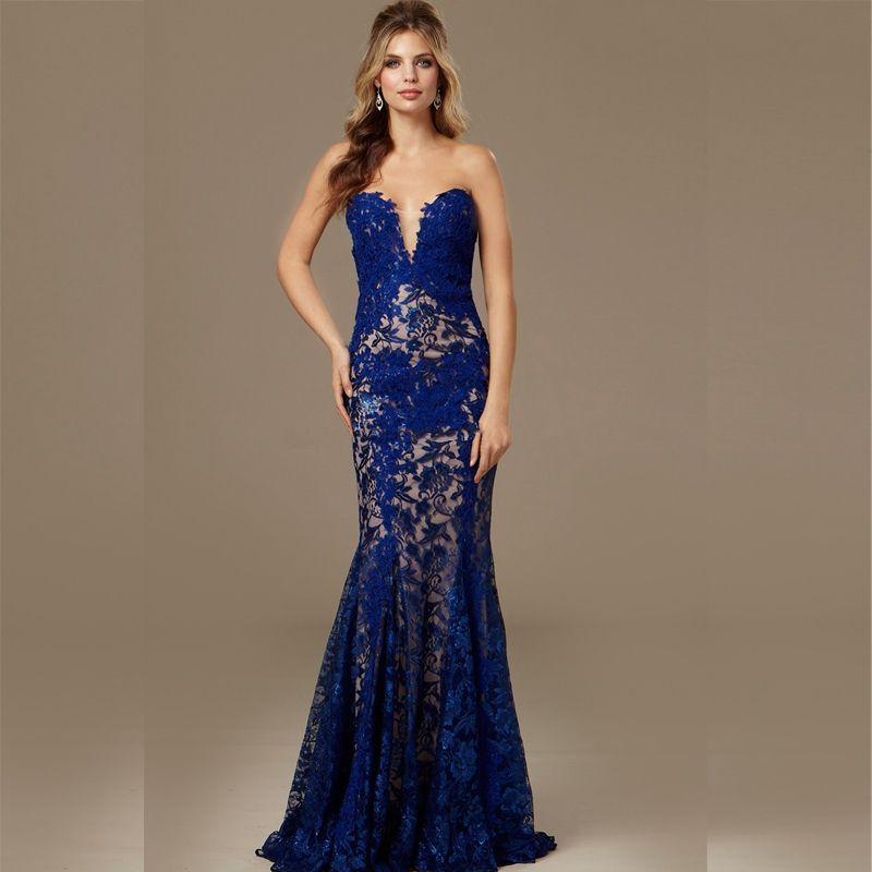 8bcba9391 vestidos de gala con encaje azul - Buscar con Google