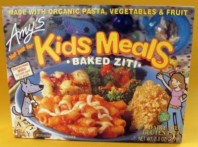 Amy's Gluten Free Baked Ziti Kids Meal box.