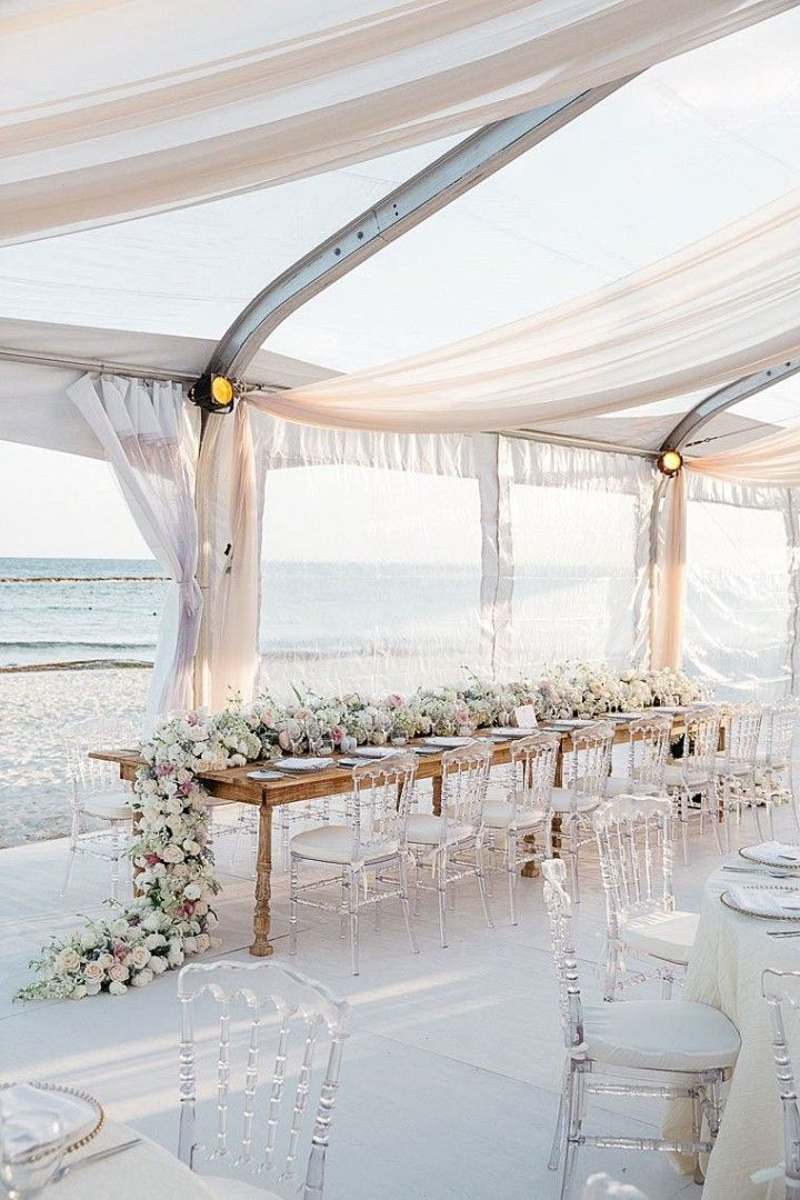 Glamorous Mexico Destination Wedding by the Beach Beach