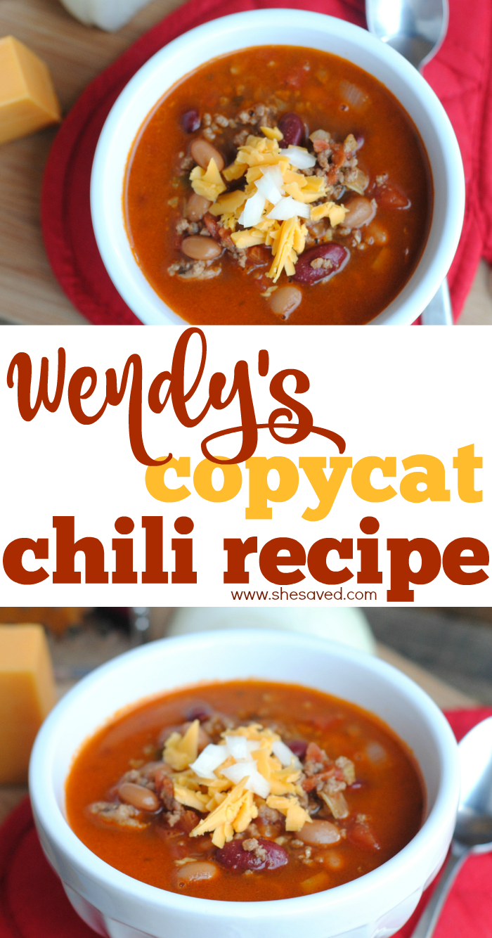 Wendy S Copycat Chili Recipe Wendys Chili Recipe Chili Recipes Wendys Chili Recipe Copycat