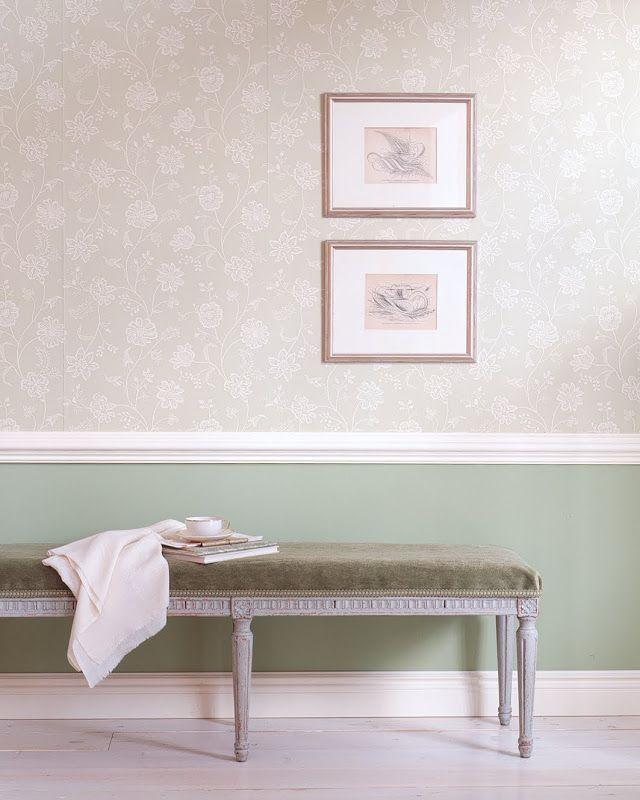 wallpaper under dado rail staircases pinterest. Black Bedroom Furniture Sets. Home Design Ideas