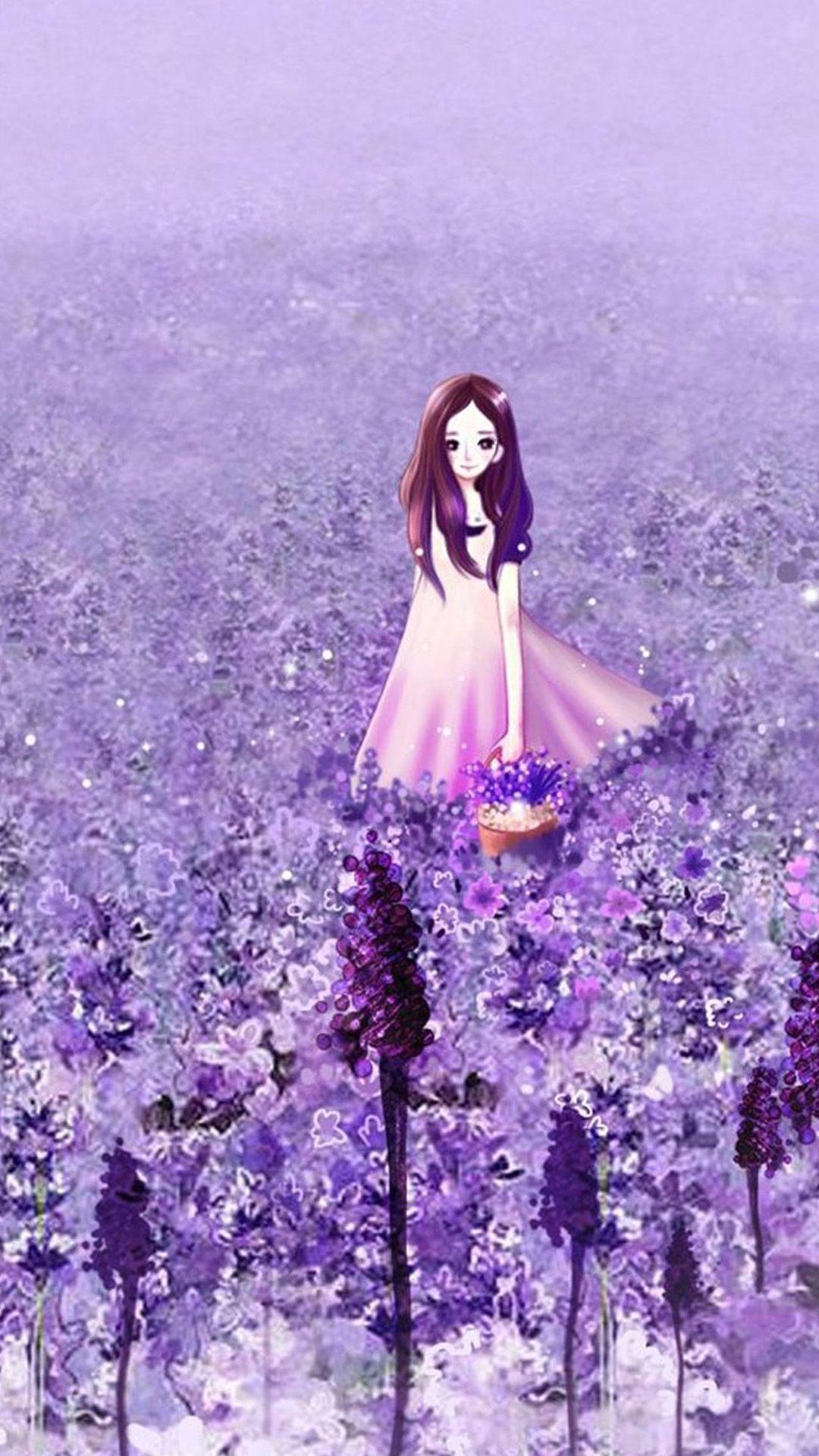 Flower Girl Otaku Anime Art Illust Spring iPhone 6