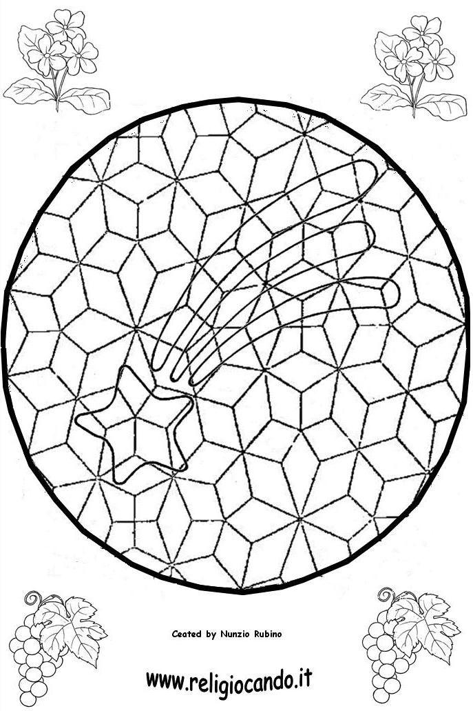 plantilla mosaico para niños - estrella de belen | MANDALAS ...
