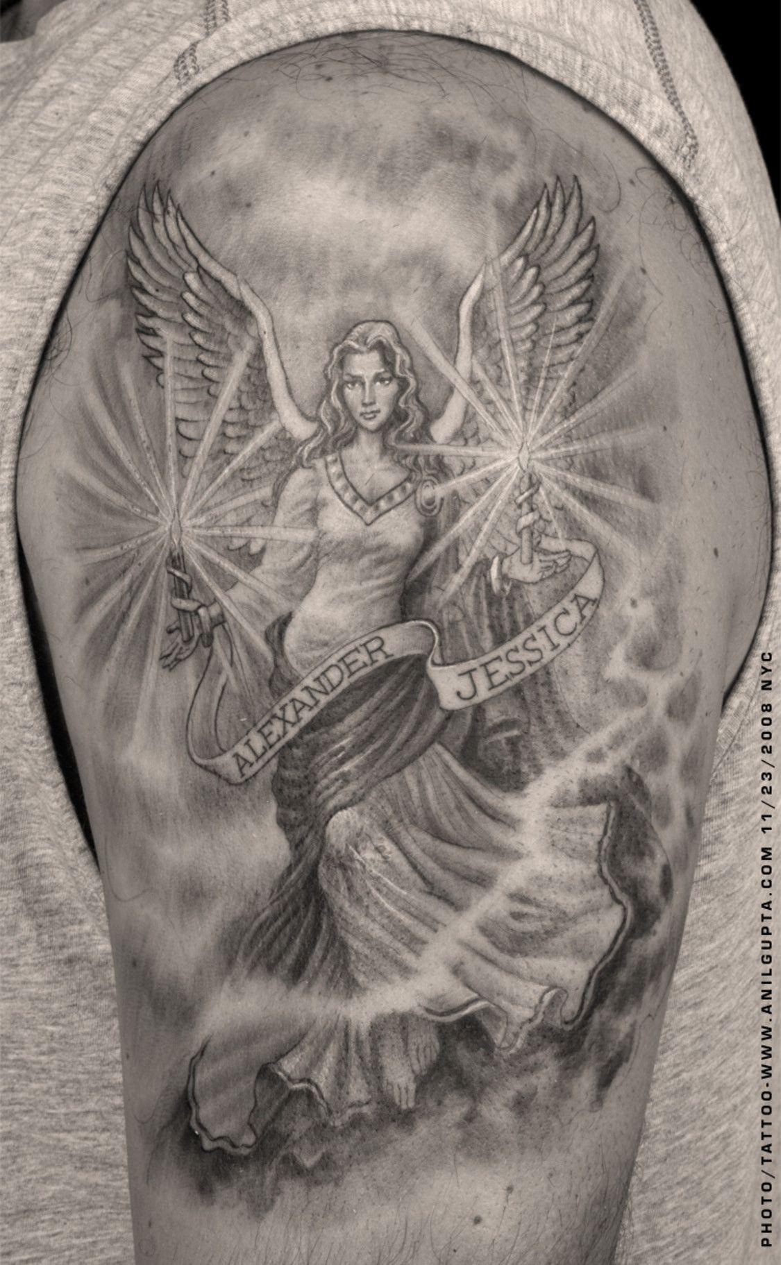 Ange Gardien Protecteur Tatouage guardian angels tattoos | tatouage, tatouage ange gardien et