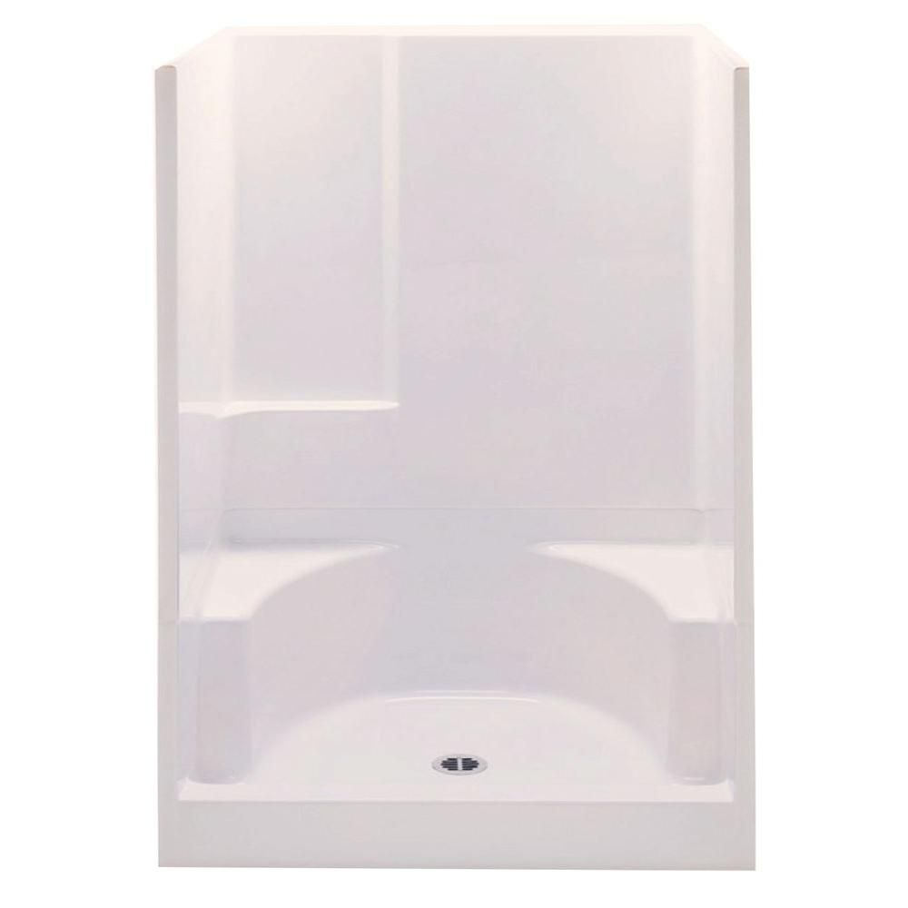 Aquatic Remodeline 48 In X 34 In X 72 In 2 Piece Shower Stall With 2 Seats And Center Drain In Biscuit 14832p Bihd Small Shower Remodel Shower Remodel