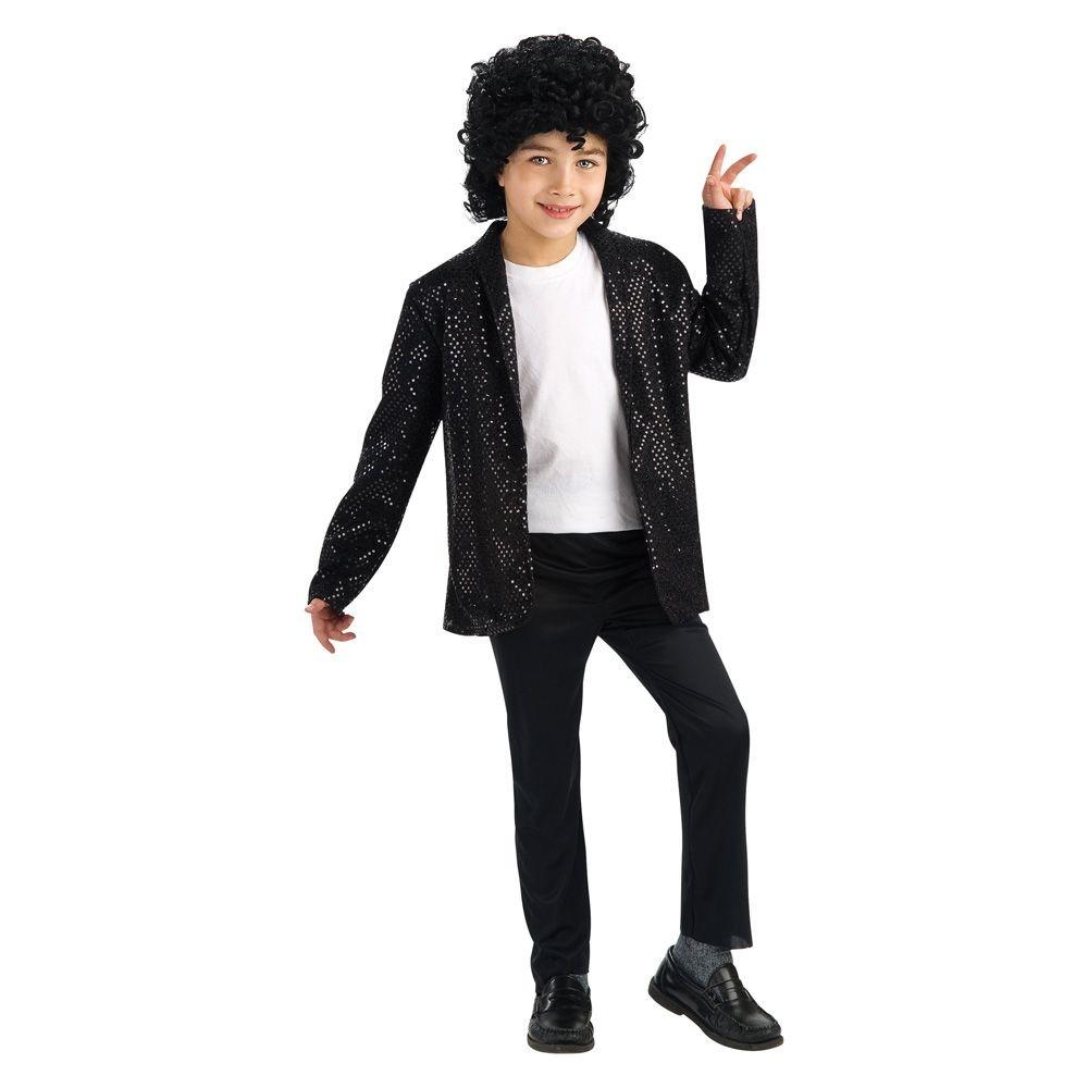 Michael Jackson Boys Billie Jean Deluxe Jacket Michael Jackson Costume Sequin Jacket Costume Black Sequin Jacket [ 1000 x 1000 Pixel ]