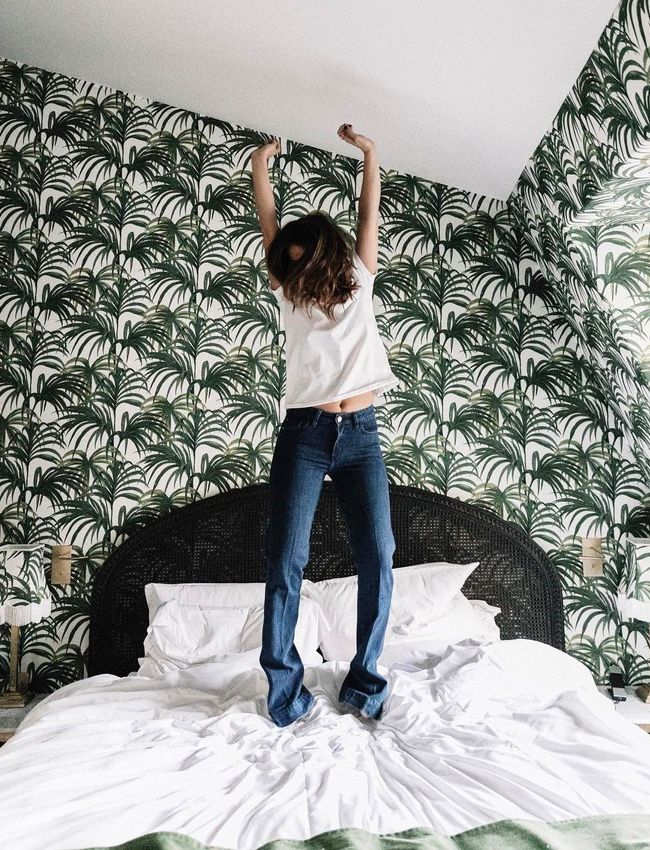 Rien de tel quu0027un papier peint fougère pour transcender les murs de - papier peint pour chambre a coucher