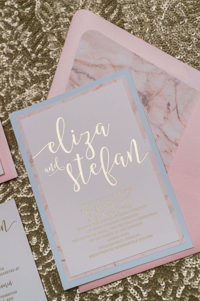 A Little Gold Foil To Perk Up Your Day Convite De Casamento
