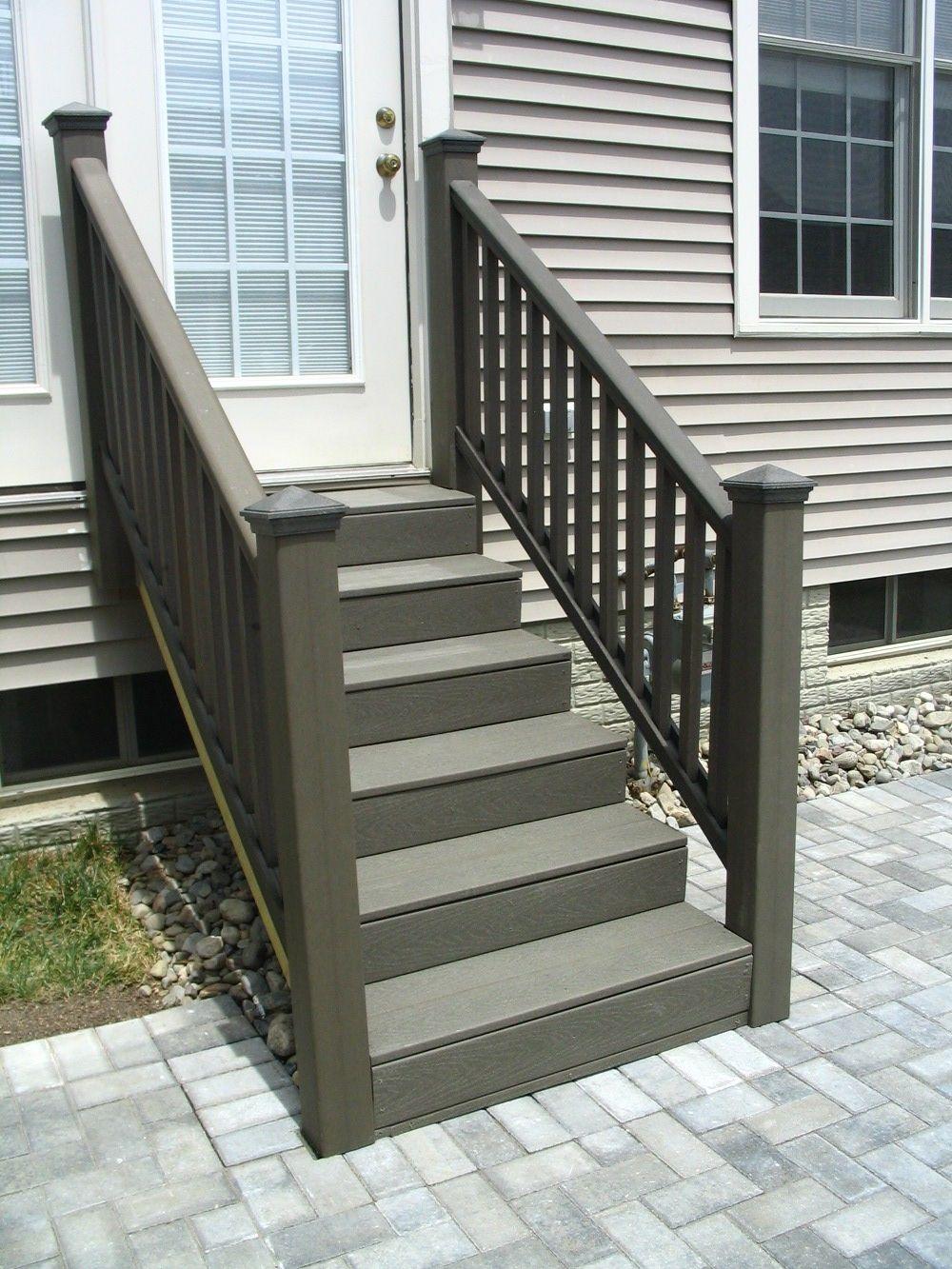 Vinyl Steps 2 Jpg 1 000×1 333 Pixels Patio Remodel Trex   Outdoor Deck Stair Railing