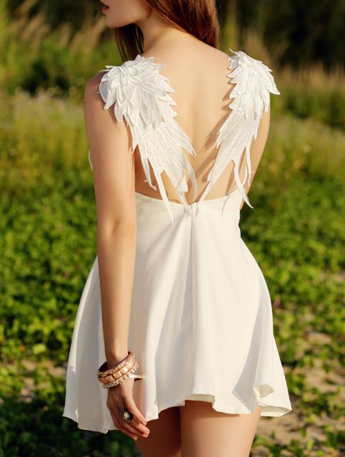 d43b1cae98f99 Sexy Backless Lace Angel Wings Sling Dress | Fashion | Dresses ...
