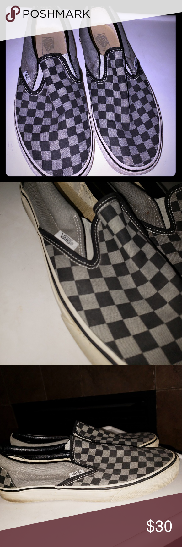977bfa775196df I just added this listing on Poshmark  MENS SLIP ON GREY CHECKERED VANS Sz  11