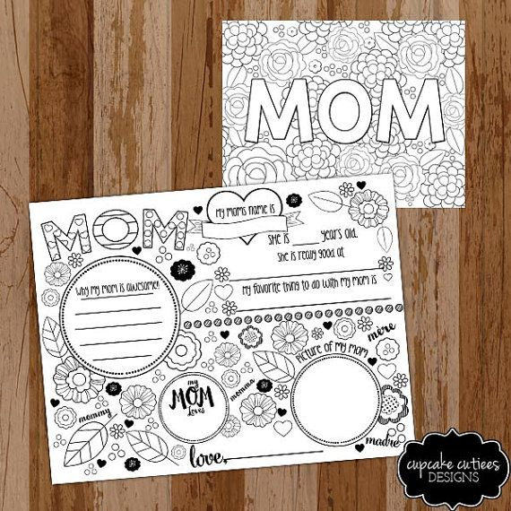 Mom Love Doodle Coloring Pages And Placemat Mother 39 S Day Diy Digital Pages U Print Mothers Day Coloring Pages Mothers Day Crafts Mother S Day Colors