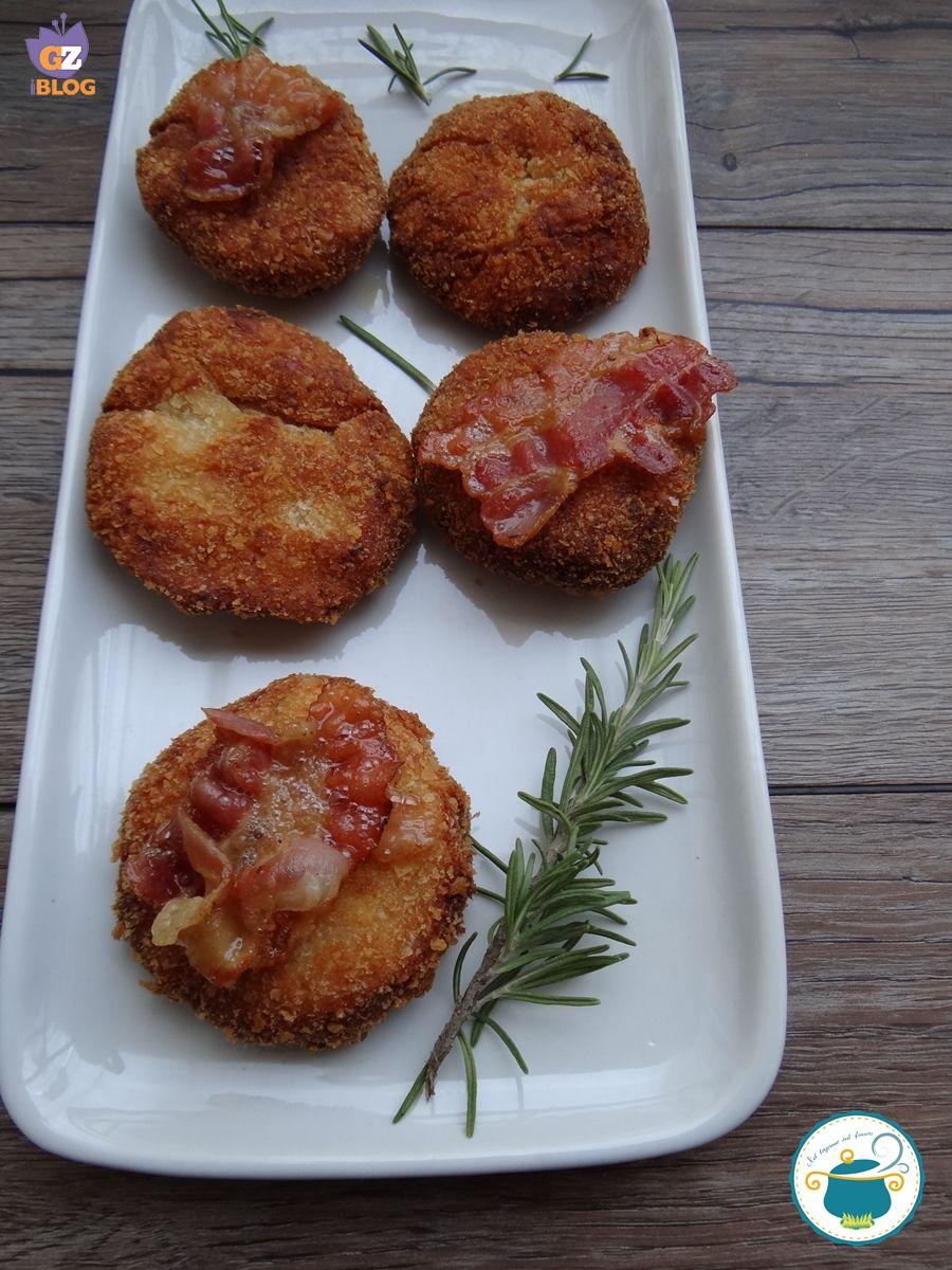crocchette di ceci con bacon croccante