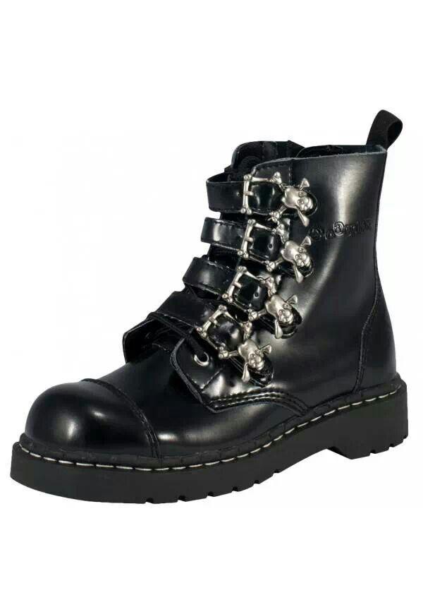 Demonia Trashville-519 - Gothic Punk Industrial Plateau Stiefel Schuhe 36-46, US-Herren:EU-41/42 (US-M9)