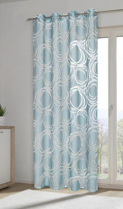 Osenvorhang Mintgrun Kreise Halbtransparenter Vorhang Verschiedene Farben Osenvorhang Vorhange Mintgrun