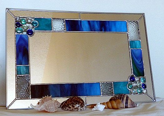 Stained Glass Mirror - Beach Bubbles