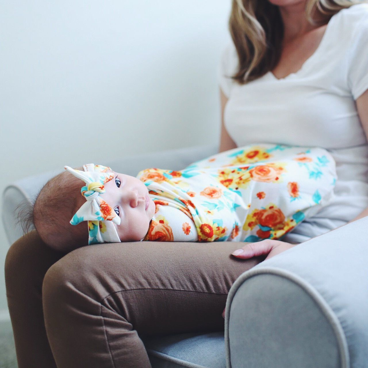 This swaddle is the cutest way to wrap your newborn baby. It's soft and stretchy