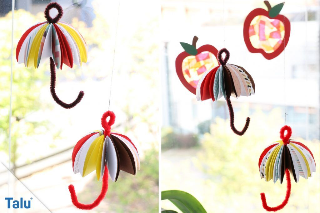 Herbst-Fensterdeko selber machen - Anleitung und kreative Vorlagen #herbstfensterdekokinder