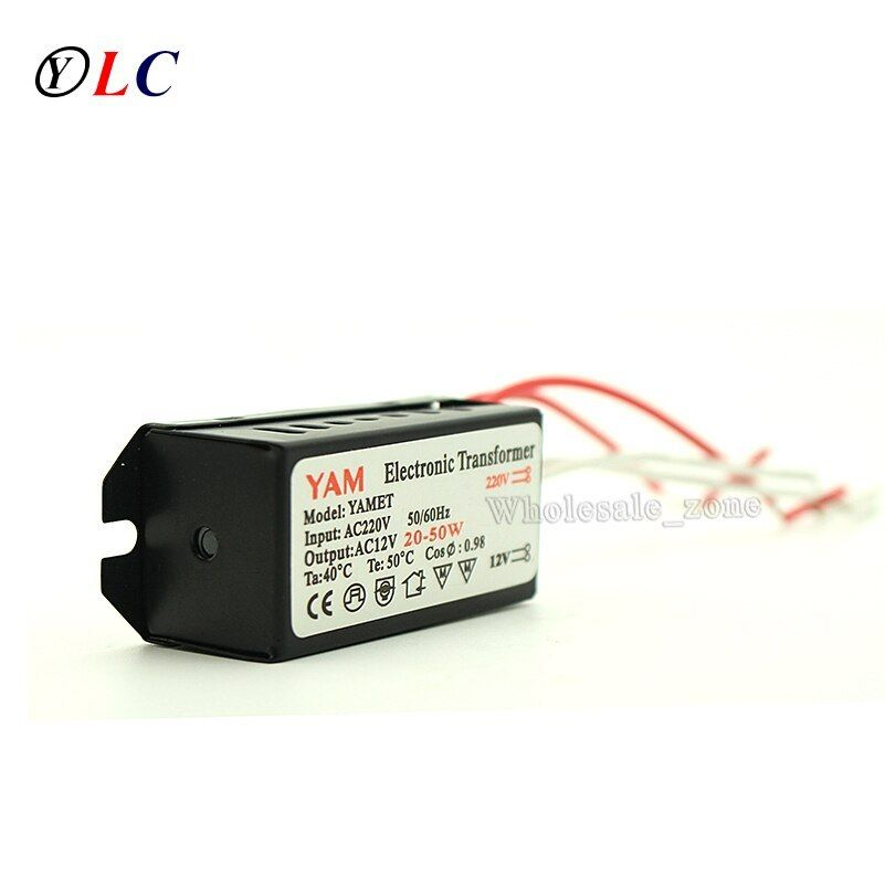 20w 50w 220v To 12v Yam2050 Halogen Light G4 Quart Bulb Led Driver Power Supply Converter Electronic Transformer Led Drivers Transformers Halogen Lighting