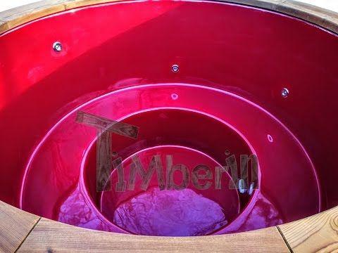 Hottub Glasvezel met elektrische kachel - TimberIN