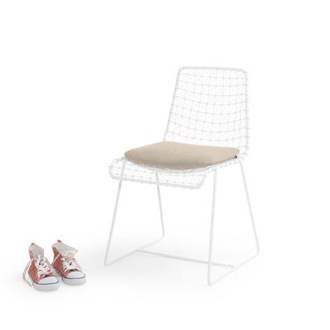 Hand Welded Wire Geronimo White Kitchen Chair