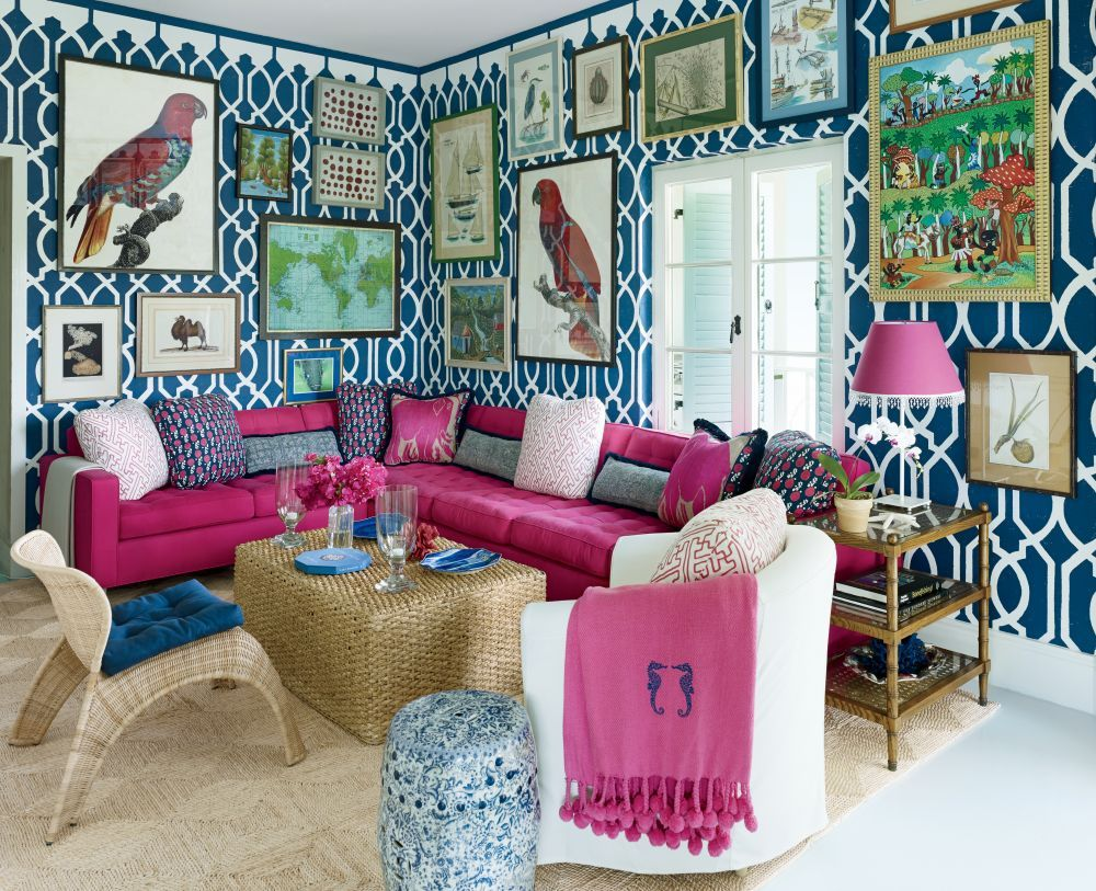 Beach mediagame room by miles redd in lyford cay bahamas living