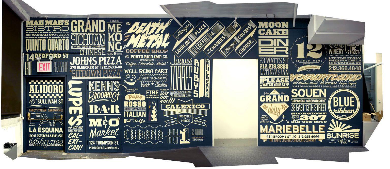 Restaurant wall design studio attack s wieden kennedy
