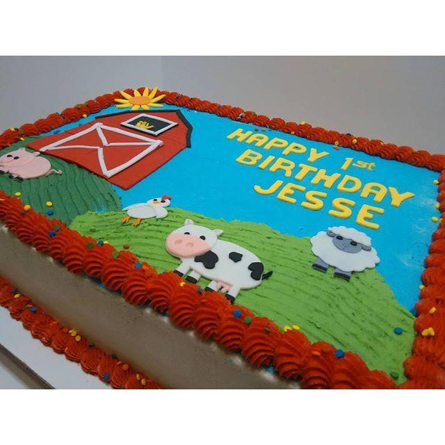 Stupendous Photo From Suzyqbaking1 Farm Animal 1St Birthday Sheet Cake Funny Birthday Cards Online Drosicarndamsfinfo