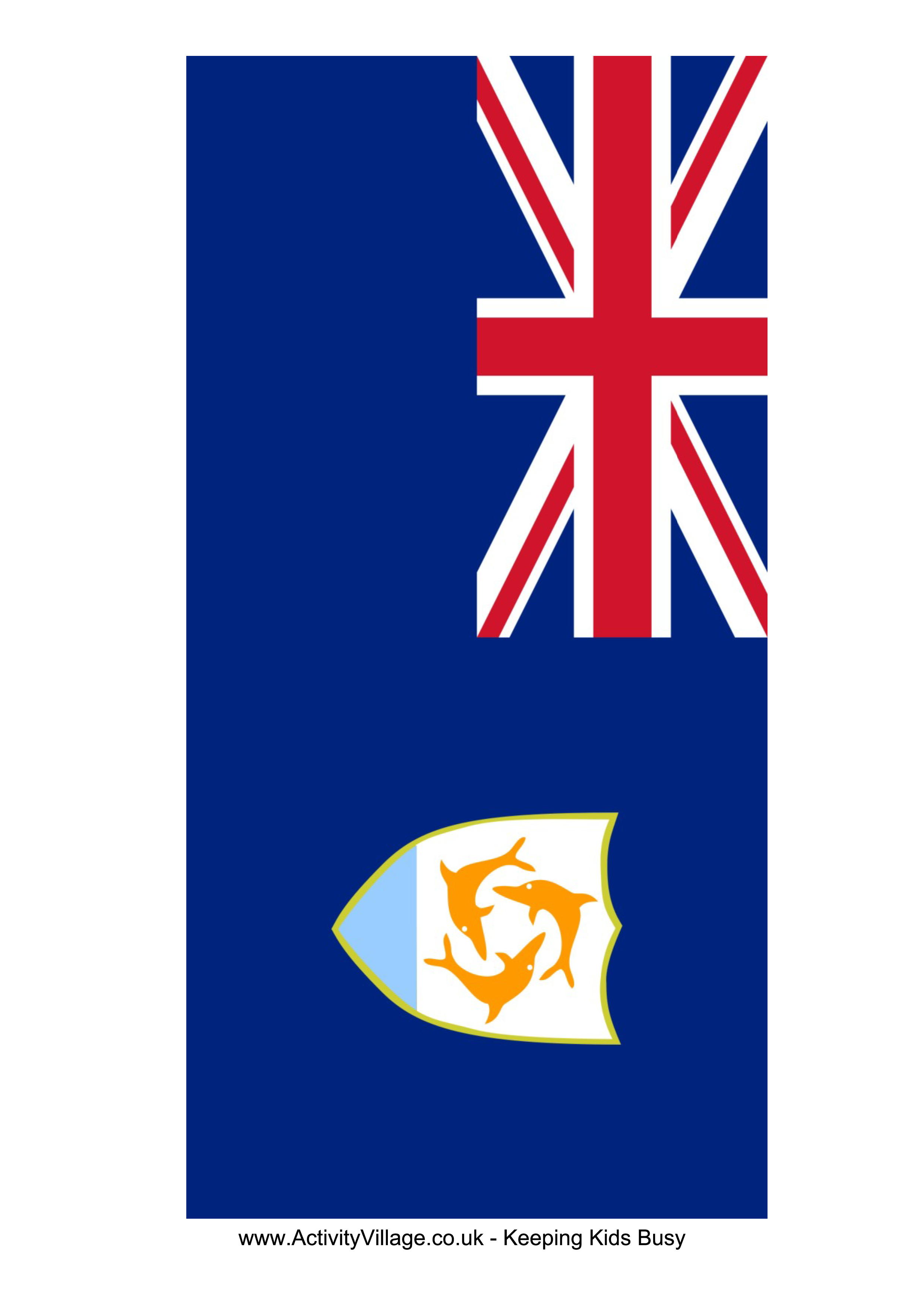 Anguilla Flag Free Printable Anguilla Flag Flag Template Anguilla Flag Business For Kids