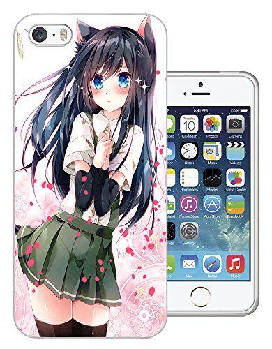 1035 - Cool Fun Cute Sexy Manga Art Cartoon Kawaii School Girls Japanese (2) Design iphone 5C Fashion Trend Protecteur Coque Gel Rubber Silicone protection Case Coque