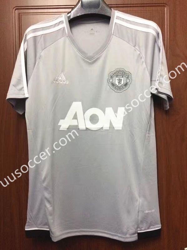 c2f198e3549 2017-18 Manchester United White Thailand Soccer Training Jersey ...