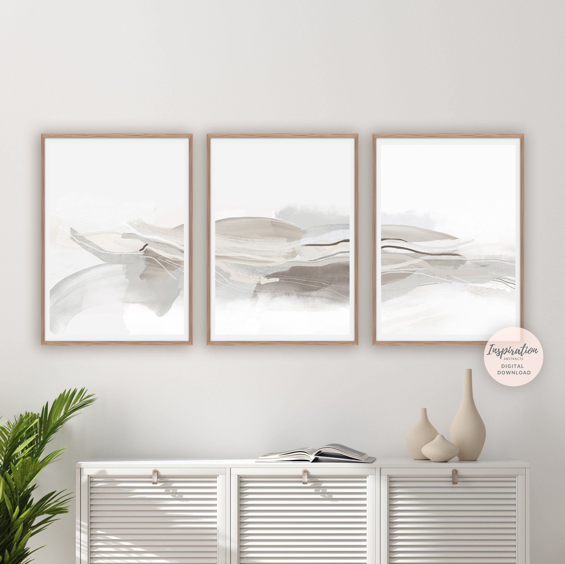 Minimal Abstract Prints 3 Piece Wall Art Minimalist Art Large Wall Art Zen Wall Art Livi Zen Wall Art Contemporary Watercolor Art Black And White Wall Art