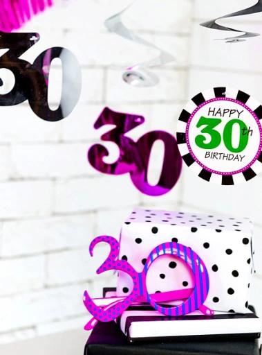 Pin Na Dekoracje I Prezenty Na 30 Urodziny