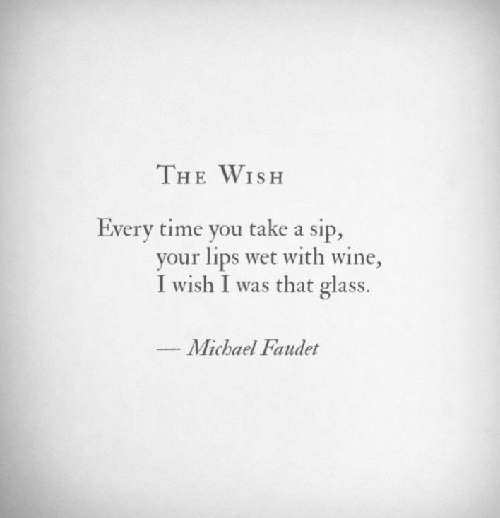 Oh How I Wish I Am Your Glass Michael Faudet Michael Faudet