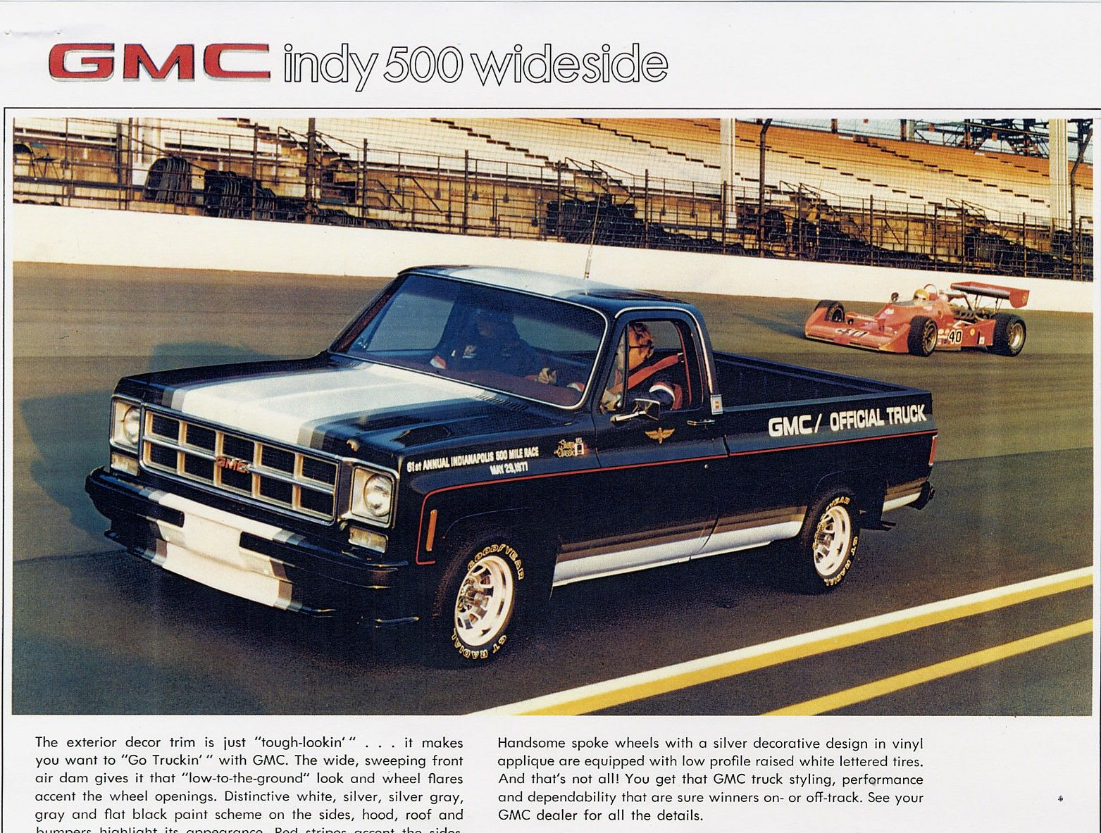 1977 gmc indy 500 wideside limited edition pickup